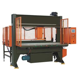 Automatic stepping feeding movable head type cutting machine